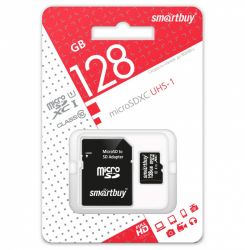 SMART BUY   128GB MICRO SDXC CLASS 10 + SD АДАПТЕР