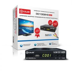 ЦИФРОВОЙ TV РЕСИВЕР D-COLOR DC1002HD DVB-T2
