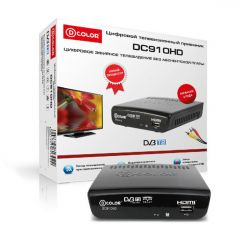 ЦИФРОВОЙ TV РЕСИВЕР D-COLOR DC910HD DVB-T2