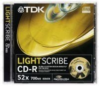 TDK CD-R 80 52X LIGHTSCRIBE JC