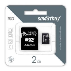 SMART BUY 2GB MICRO SD + SD АДАПТЕР